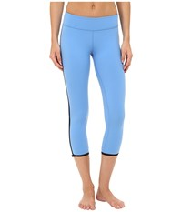 Kate Spade New York X Beyond Yoga Framed Capris Alley Blue Black Women's Casual Pants