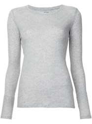 Majestic Filatures Long Sleeved T Shirt Grey