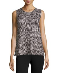Berek Chevron Print Scoop Neck Tank Multi