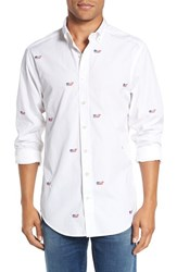 Vineyard Vines Men's 'Whale Flag' Slim Fit Embroidered Sport Shirt