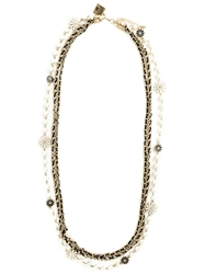 Edward Achour Paris Flower Chain Necklace