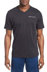 Men's Under Armour Charged Cotton Loose Fit V Neck Shirt Black