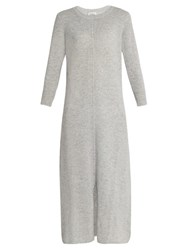 Le Kasha Mali Cashmere Maxi Dress Light Grey