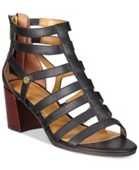 Tommy Hilfiger Cathy Gladiator Sandals Women's Shoes Black