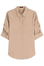 Steffen Schraut Gathered Sleeve Shirt Beige