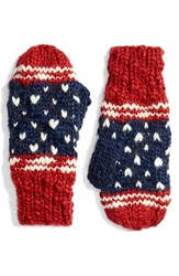 Collection Xiix Women's 'Americana Pom' Knit Mittens