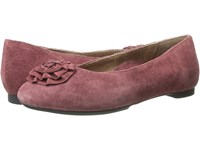 Aetrex Essence Jodi Merlot Women's Dress Flat Shoes Red