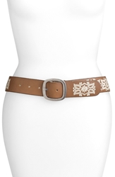 Lucky Brand Embroidered Floral Belt Saddle