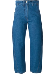 Lemaire Cropped Relaxed Fit Jeans Blue