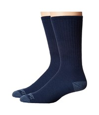 Timberland Tm31357 Midweight Merino Wool Crew 2 Pair Pack Denim Men's Crew Cut Socks Shoes Blue