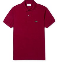 Lacoste Cotton Pique Polo Shirt Burgundy