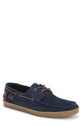 Lacoste 'Keelson 7' Boat Shoe Men Online Only Navy Suede