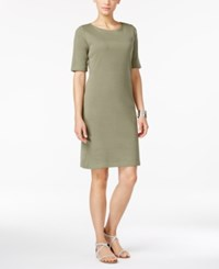 Karen Scott Petite T Shirt Dress Only At Macy's Charcoal Heather