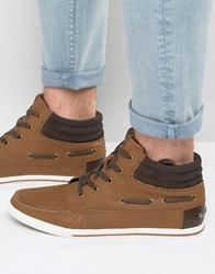 Aldo Kayci Hi Top Trainers In Tan Tan