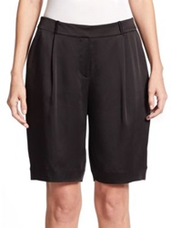 Kate Spade Satin Crepe Shorts Black