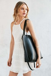 Silence And Noise Silence Noise Zip Pebbled Tote Bag Black
