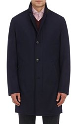 Kiton Men's Cashmere Zip Front Jacket Navy