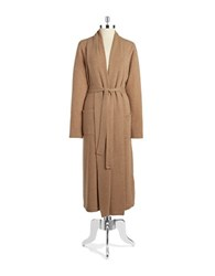 Lord And Taylor Cashmere Long Robe Mocha