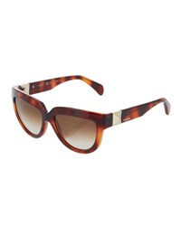 Valentino Rockstud Cat Eye Sunglasses Blonde Havana