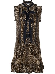Zuhair Murad Leopard Print Dress Black