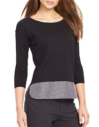 Lauren Ralph Lauren Layered Crewneck Sweater Black