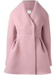Delpozo Structured Short Coat Pink Purple