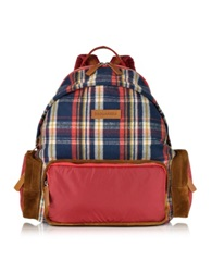 Dsquared Tom Red And Blue Plaid Backpack Multicolor