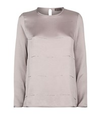 Peserico Embellished Silk Top Female Pink