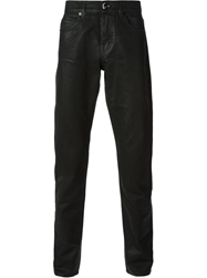 Mcq By Alexander Mcqueen Coated Straight Leg Jeans Black