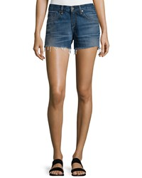 Rag And Bone Rag And Bone Jean Mid Rise Denim Boyfriend Cutoff Shorts Torrington Size 27