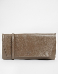 Matt And Nat Oversized Clutch Bag With Optional Shoulder Strap Taupe
