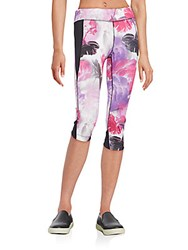 Andrew Marc New York Peony Spliced Leggings Peony Rose