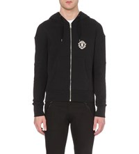 Alexander Mcqueen Embellished Cotton Hoody Black