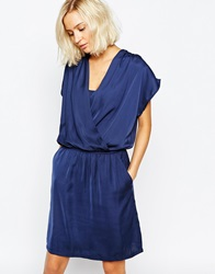 Selected Romana Wrap Front Dress Nightsky