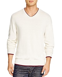 Robert Graham Nolan V Neck Sweater Bloomingdale's Exclusive Ivory