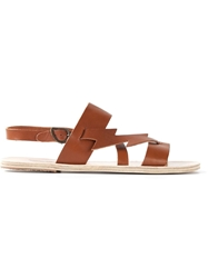 Ancient Greek Sandals 'Thymos' Sandals Brown