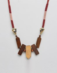 Pieces Perri Necklace Pink Multi
