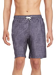 Saks Fifth Avenue Red Swim Trunks Charcoal