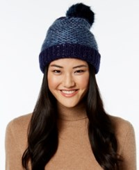 Inc International Concepts Skip Stitch Beanie Only At Macy's Navy