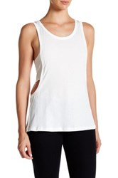 Candc California Eclipse Faux Layered Tank White