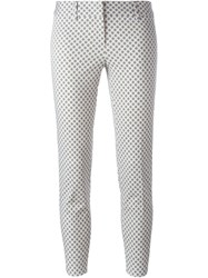 Alberto Biani Floral Print Trousers Nude And Neutrals