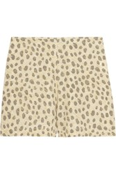 Equipment Lewis Leopard Print Washed Silk Shorts