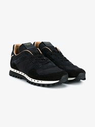 Valentino Running Stud Camouflage Print Sneakers Black Camel White Clotted Cream Grey Denim