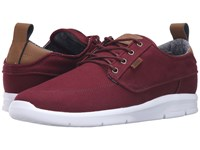 Vans Brigata Lite Canvas Port Royale White Men's Skate Shoes Red