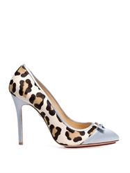 Charlotte Olympia Grace Satin And Calf Hair Pumps