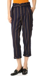 Free People Baldwin Trousers Blue Combo