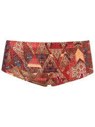 Lygia And Nanny Abstract Print Swim Trunks Brown