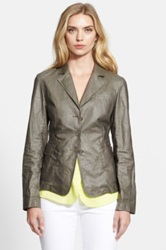 Armani Collezioni Coated 3 Button Jacket Green