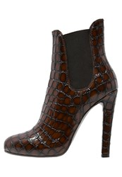 Mai Piu Senza High Heeled Ankle Boots Brown