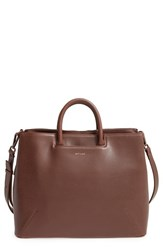 Matt And Nat 'Kintla' Vegan Leather Satchel Brown Coffee